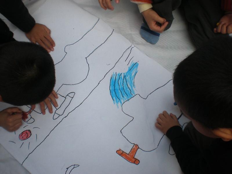小学生节水海报手绘