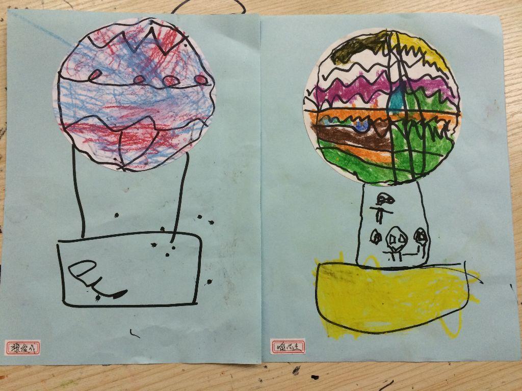 潜涂美术-热气球图片