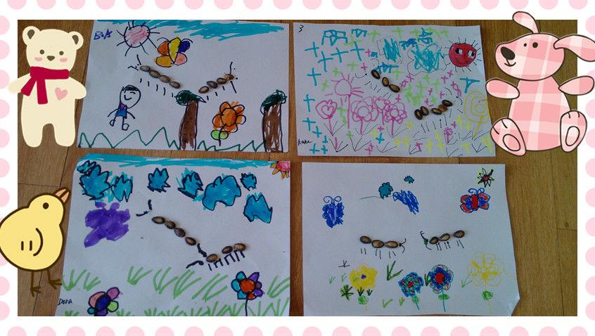瓜子粘贴画——蚂蚁