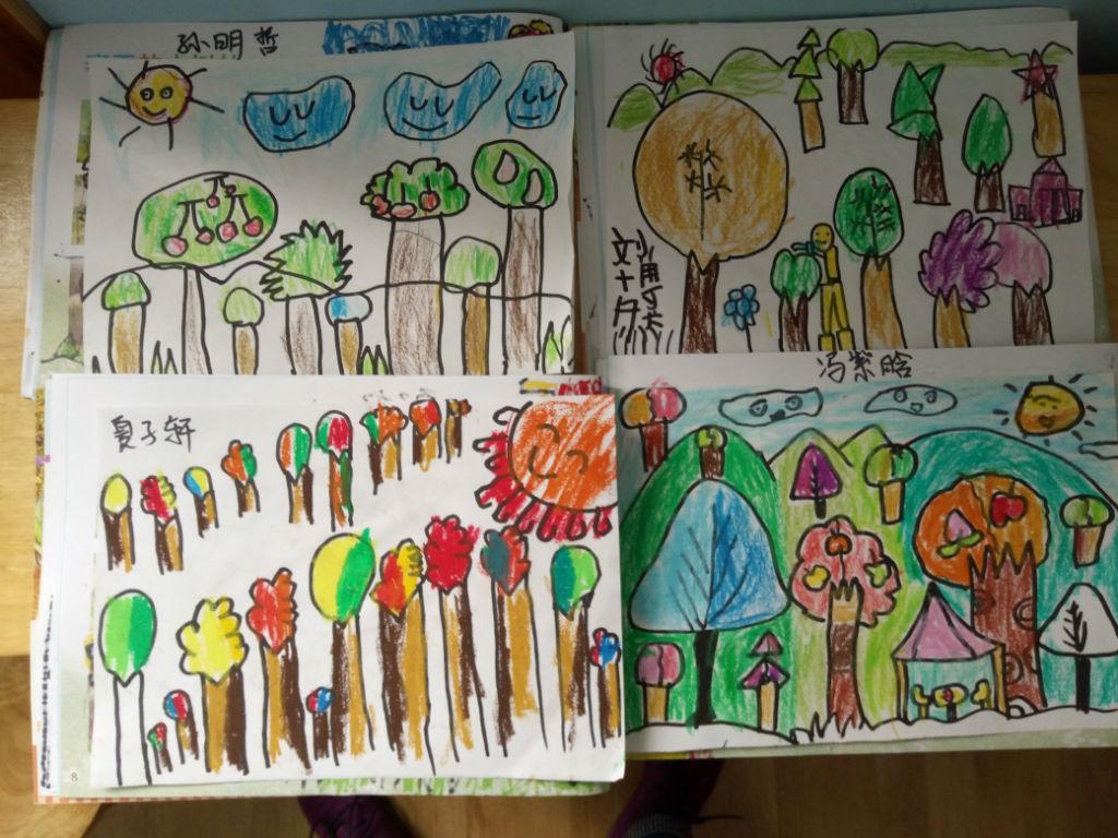 春天的小树林_绘画作品